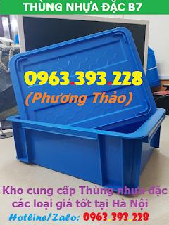Thùng nhựa đặc có nắp, hộp nhựa cơ khí cao cấp tại Hà Nội