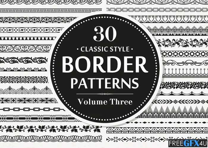 30 Vector Border Seamless Patterns