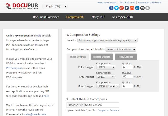 Docupub Free Online Convert dan Kompres PDF