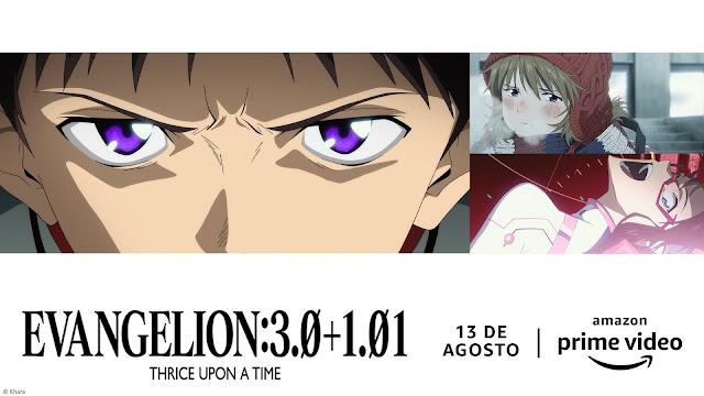 Evangelion: 3.0+1.01 e mais 3 filmes confirmados na Prime Vídeo