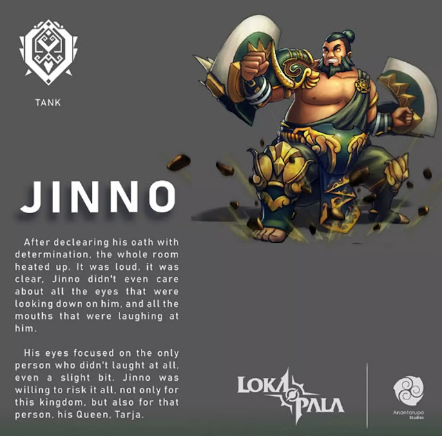 Through its official Facebook account, Lokapala Anantarupa Studios has just introduced a new MOBA hero with a role tank named Jinno. Jinno himself is a hero taken from the Gajah Mada figure.