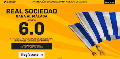betfair Real Sociedad gana Malaga supercuota 6 Liga 27 febrero