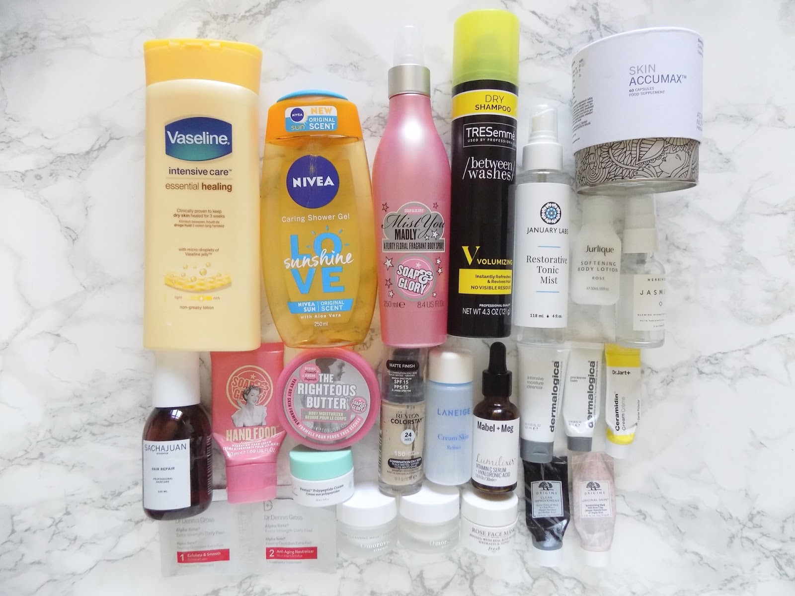product empties review omorovicza skin accumax mabel + meg