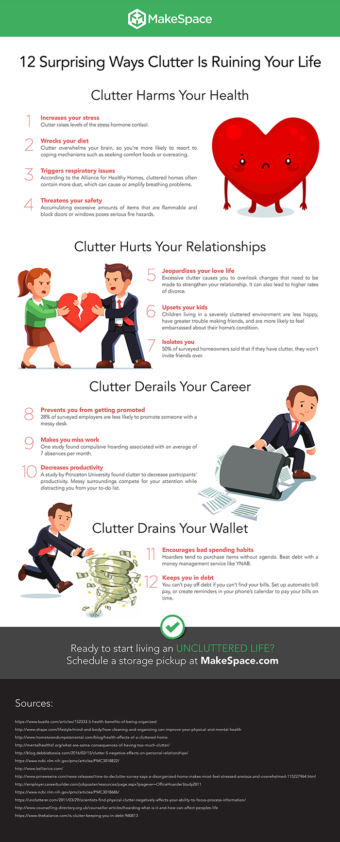 12 Surprising Ways Clutter Is Ruining Your Life #infographic