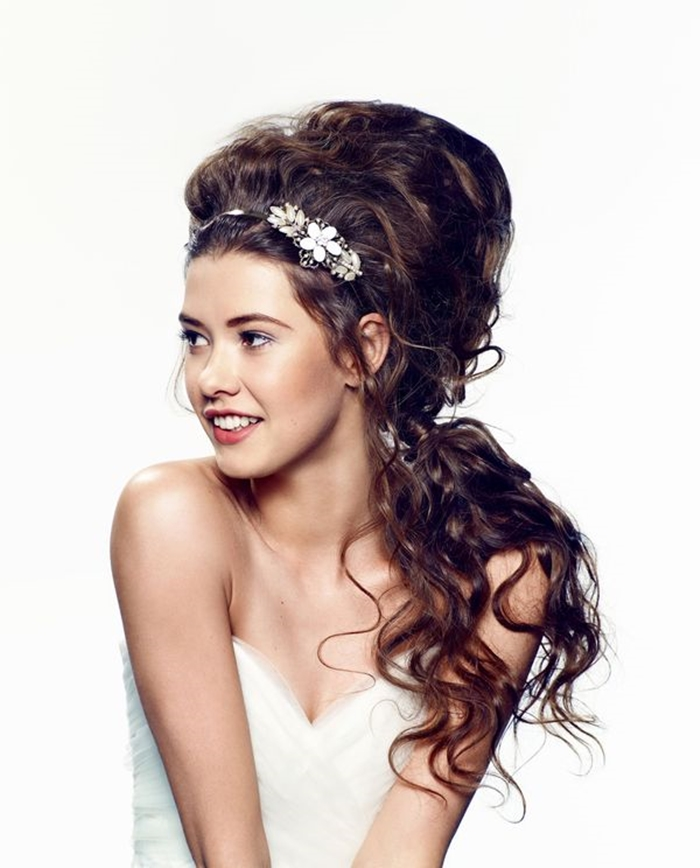 hair bridal half updo