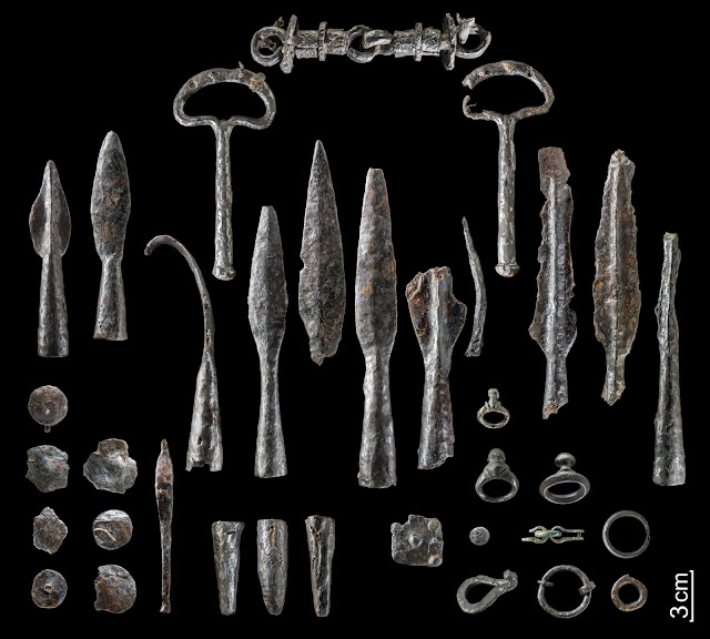 Iron Age weapons hoard unearthed in Germany