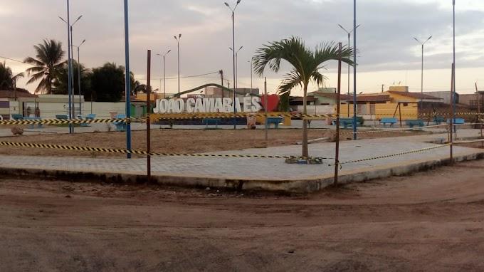João Câmara: Prefeitura interdita duas praças para evitar aglomeração de pessoas