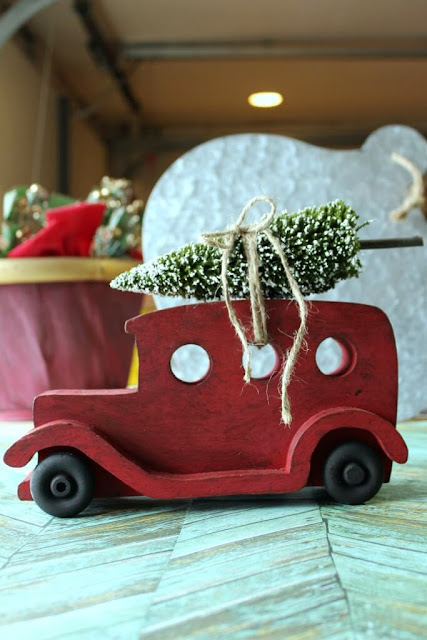 Upcycled Toy Car Christmas Decor
