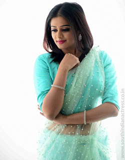 Priyamani in Transparent Green Saree Lovely Pics Cute Beauty