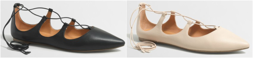 J. Crew Factory Leather Lace-Up Flats for only $20 (reg $108)