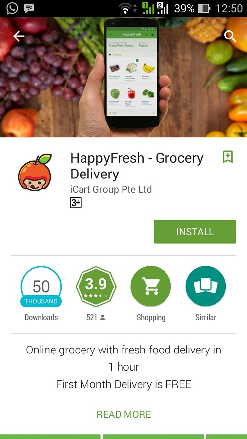 Belanja Groceries HappyFresh Saja