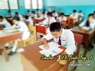 Soal Simulasi Dilengkapi dengan Kunci Jawaban UN Bahasa Indonesia Tahun 2018 (Bag.4)