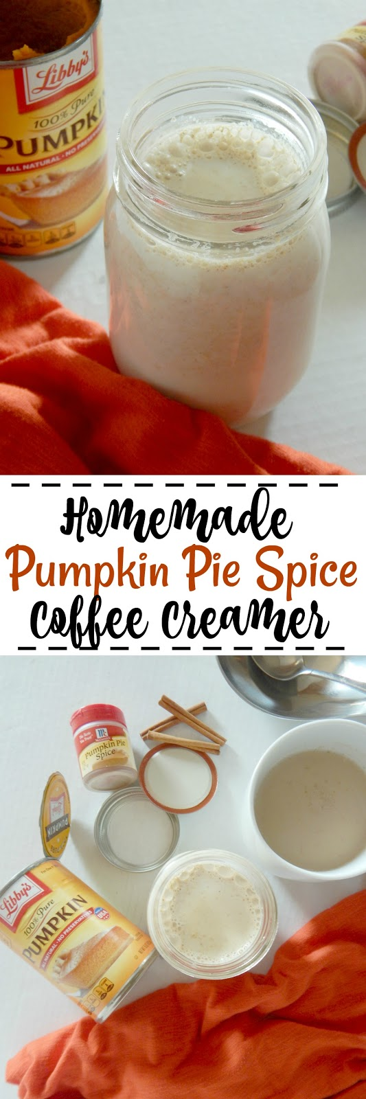 Homemade Pumpkin Pie Spice Coffee Creamer...a delicious, Fall-spiced coffee creamer, made in less than 10 minutes! (sweetandsavoryfood.com)