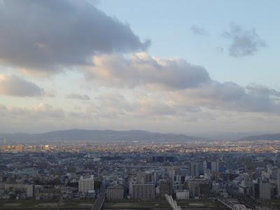 梅田スカイビル空中庭園展望台から望む北側の景色