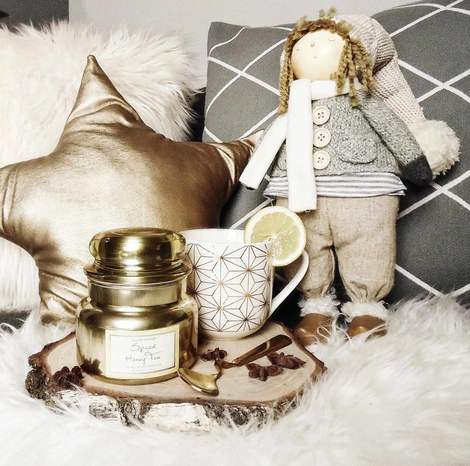 spiced honey tea village candle disco świeczki aromanti
