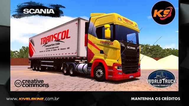SCANIA S730 - TRANSCOL TRANSPORTES AMARELO COM VERMELHO