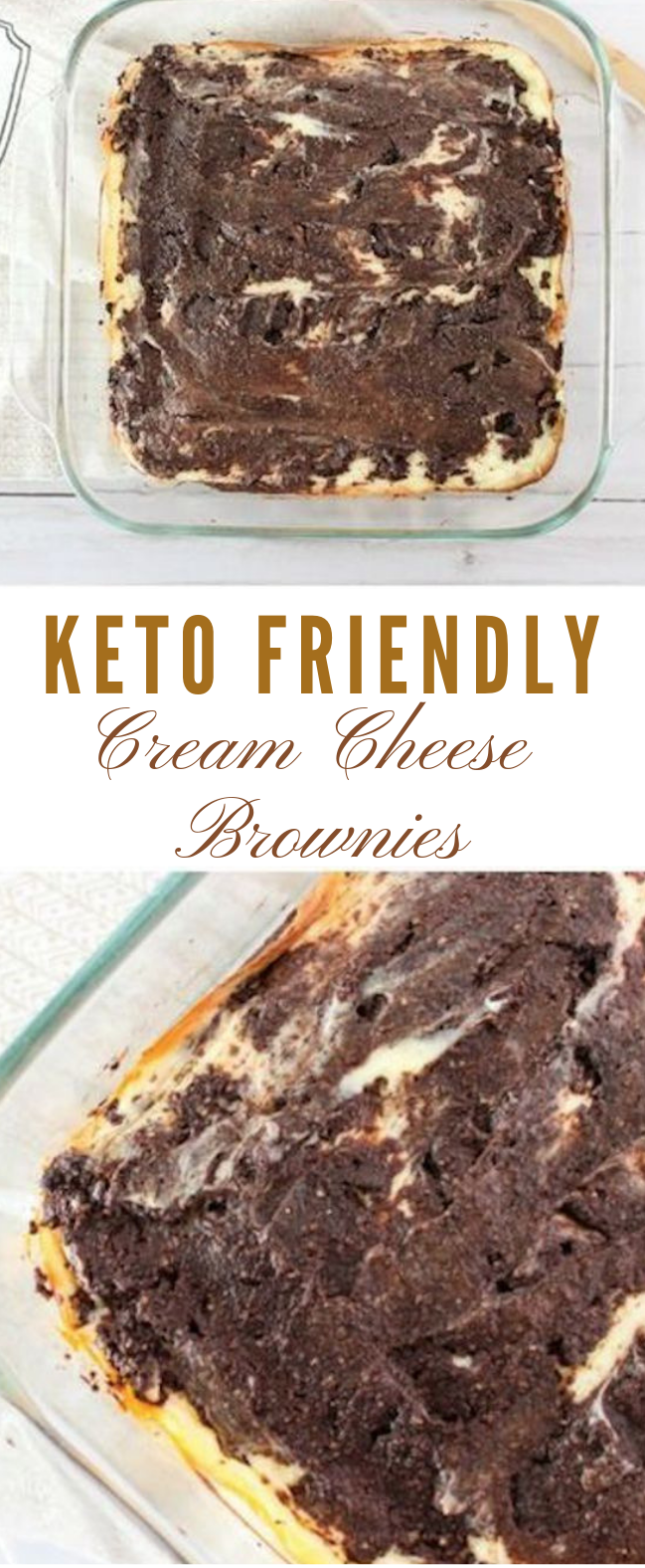Keto Cream Cheese Brownies Recipe #cakes #keto