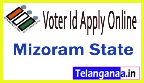CEO Mizoram Online Voter ID Registration Online