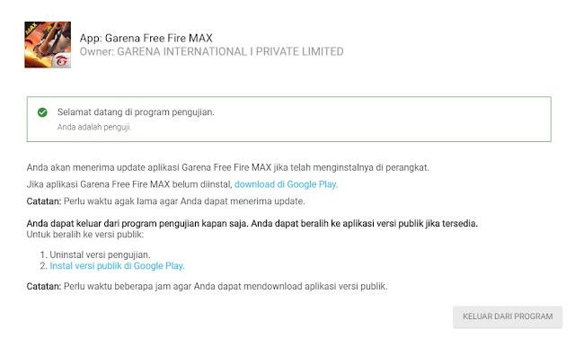 Cara Mendapatkan Kode Free Fire Max Dan Update Test Hasil Registrasinya