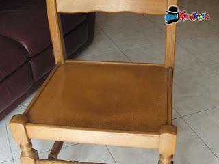 seduta della sedia priva di cuscino
