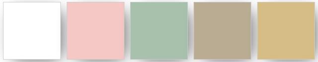 couleurs utilisées pour cet ensemble de cartes Stampin' Up!