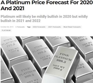 2020년 ~ 2022년 국제 백금 시세 전망 : 점진적 상승후 1800 달러까지 상승 예상 - Investing Haven