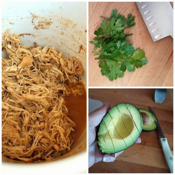 Perfect shredded chicken for burritos www.diybeautify.com
