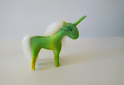 Felt unicorn pattern diy tutorial