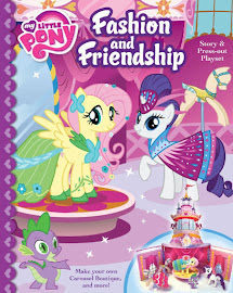MLP Fashion and Friendship Storybook and Press Outs Book Media
