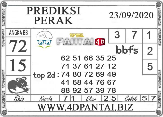 PREDIKSI TOGEL PERAK PANTAI4D 23 SEPTEMBER 2020
