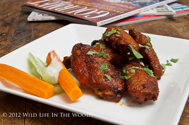 Crispy Lime and Cilantro Chicken Wings, with Sriracha Sauce