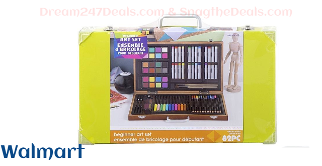Studio 71 Kids Art Set in Wood Case: 82 pieces $15.97 Free delivery