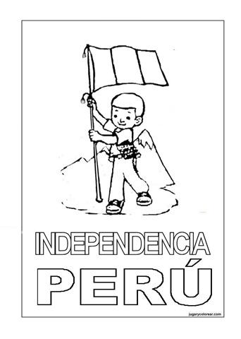 Colorear Dibujos De La Independencia Y Símbolos Patrios De Perú