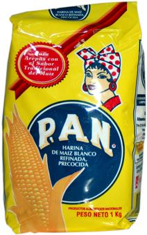 P.a.n harina de maíz blanco precocida