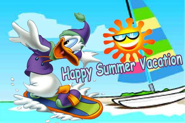 Happy Summer Vacation Card Send Everyday