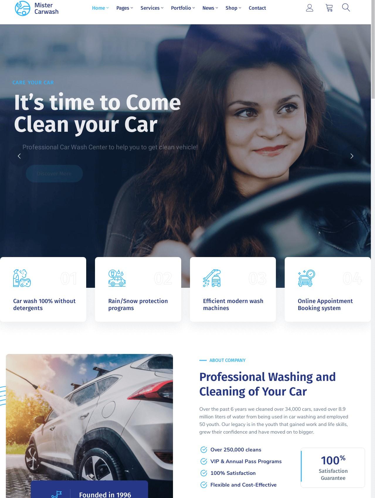 Mister  Car Wash WordPress Theme