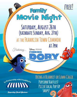 #shopFranklin Family Movie Night on the Town Common - Aug 26