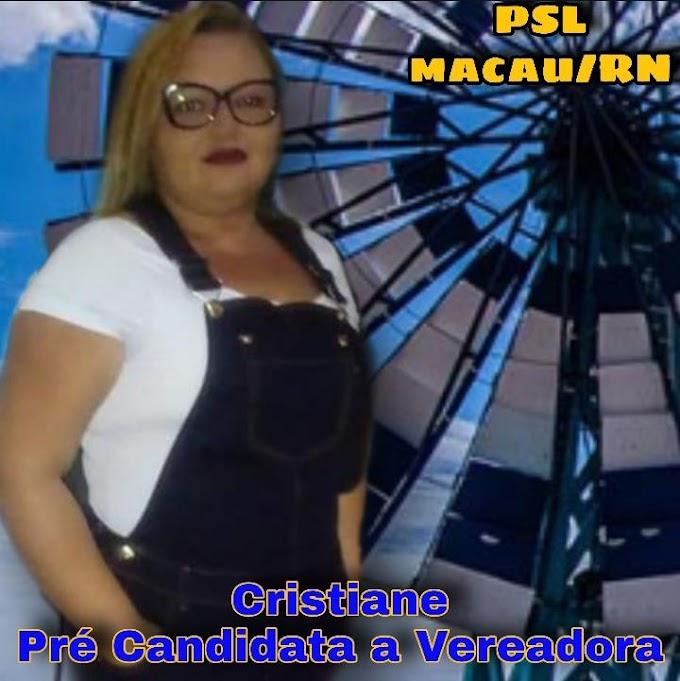 POLÍTICA: Cristiane disputará o pleito eleitoral como pré-candidata a vereadora pelo PSL; confira um pouco de sua história
