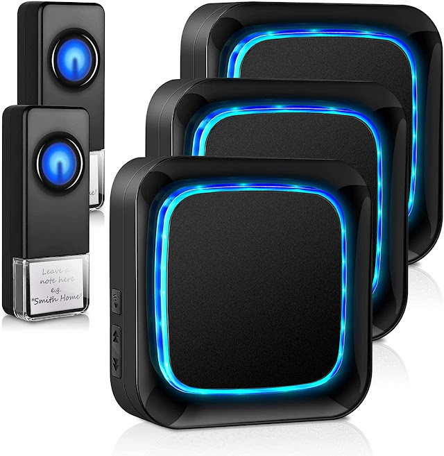 wireless doorbells for home with 3 receivers