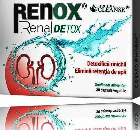 Renox Renal Detox - Cosmopharm, 30 capsule (Infectii urinare) - consilier-dezvoltare-personala.ro
