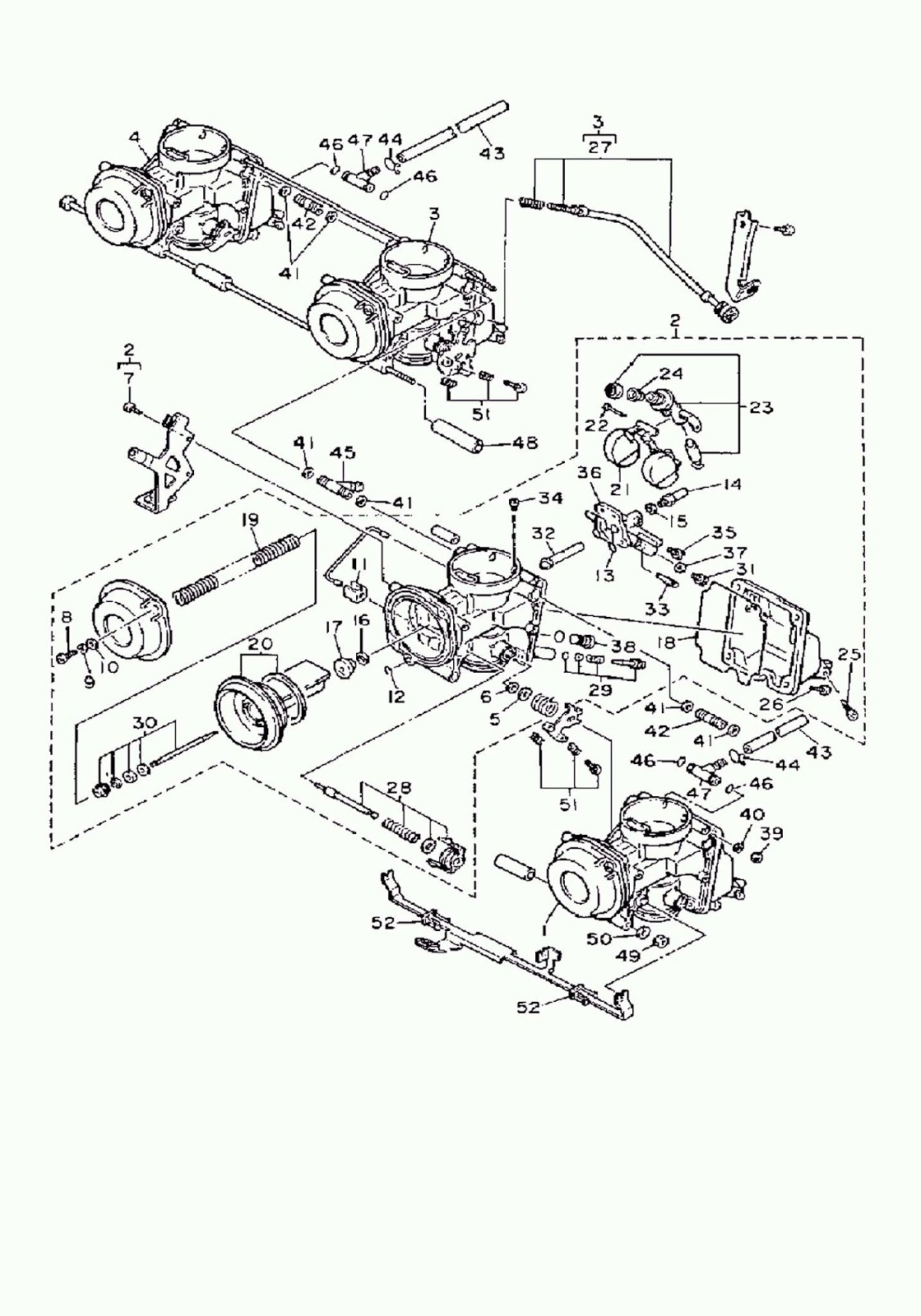 Yamaha Fzr600 Carburetor Diagram Oem