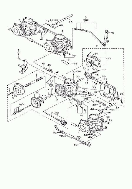 1992 yamaha fzr600 carburetor diagram oem