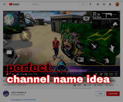 best free fire YouTube channel name ideas list for your channel