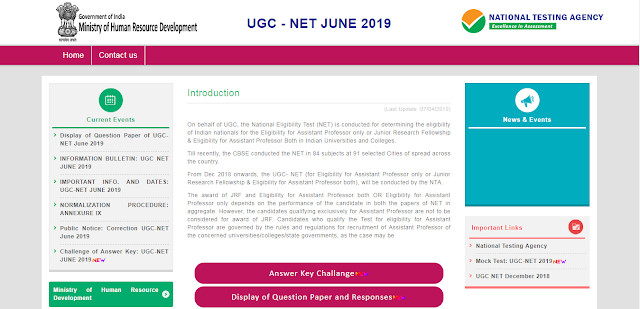 NTA NET June 2019 Answer Key Released!