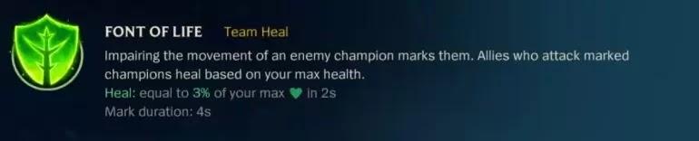FONT OF LIFE Team Heal