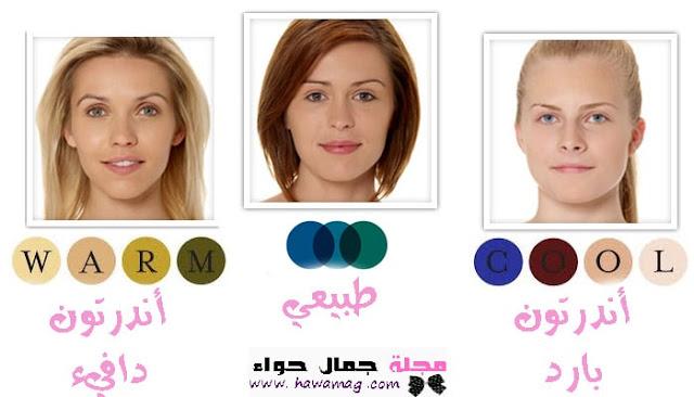 درجات لون البشرة الداخلية - درجات الأندرتون