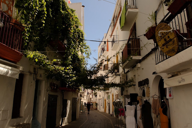 Streets of Eivissa, Ibiza old town, Dalt Vila