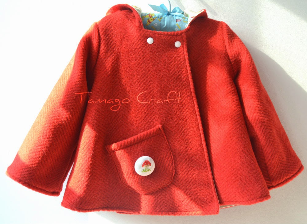 Tamago Craft: little red riding hood jacket