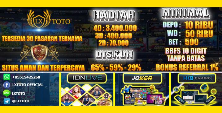 Lxtoto (Memberikan Diskon Terbesar) Ada Live Casino & Slot