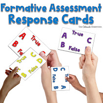 Formative Assessment Response Cards Product